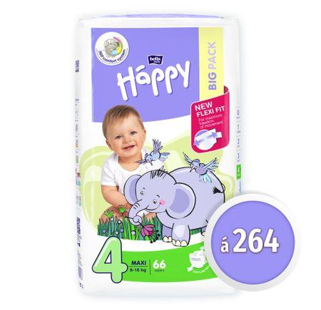 Bella Happy 4 Maxi Big Pack (8-18 kg) 264 db (4x66 db)