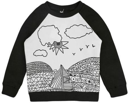 Garnamama bluza dziecięca POP ART 104 biały/czarny