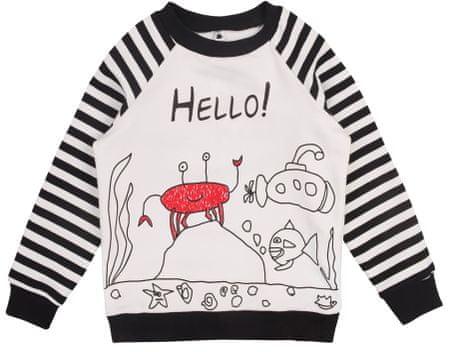 Garnamama POP ART gyermek pulóver 110 fehér/fekete