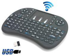 Manta brezžična mini QUERTY tipkovnica/daljinec MKB001, WiFi 2.4GHz, Touchpad, do 10m