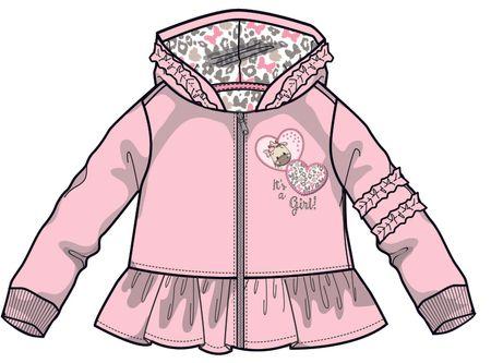 9eea8519e0b8a Mix 'n Match dívčí mikina 80 růžová   MALL.CZ