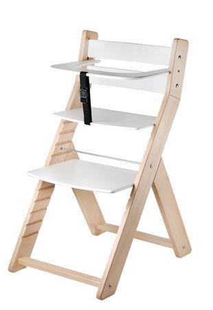 Wood Partner Gyermek növekvő szék LUCA natúr/fehér