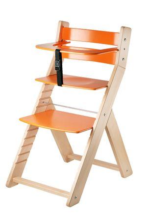 Wood Partner stol za hranjenje LUCA, natur/oranžen