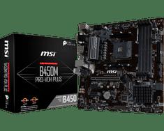 MSI matična ploča B450M PRO-VDH PLUS, DDR4, SATA3, USB 3.1 Gen1, AM4, mATX