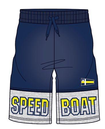 Mix 'n Match fantovske kratke hlače z napisom, 110, modre