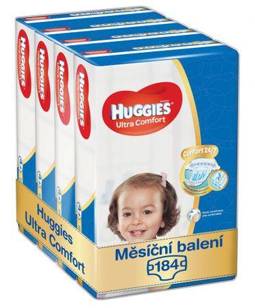 Huggies Ultra Comfort 4+ Jumbo (10-16 kg) havi csomag - 184 db (4x46 db)