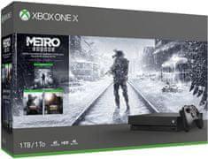 Microsoft Xbox One X 1TB + Metro Trilogy Bundle - použité