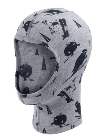 ODLO kapa, obrazna maska, otroška, siva
