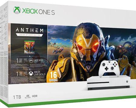 Microsoft konsola Xbox One S 1TB + Anthem: Legion of Dawn Edition