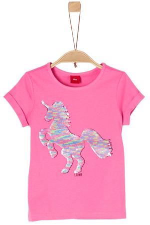 s.Oliver dívčí tričko 92 - 98 ružová
