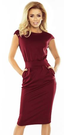 Numoco ženska obleka, L, vinska