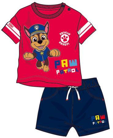 Disney by Arnetta chlapecký letní set Paw Patrol 80 červená