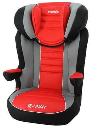 Nania otroški avtosedež R-way Prestige Ruby, rdeča/črna