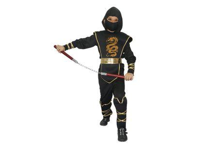 Unikatoy kostum ninja zmaj črn 25230