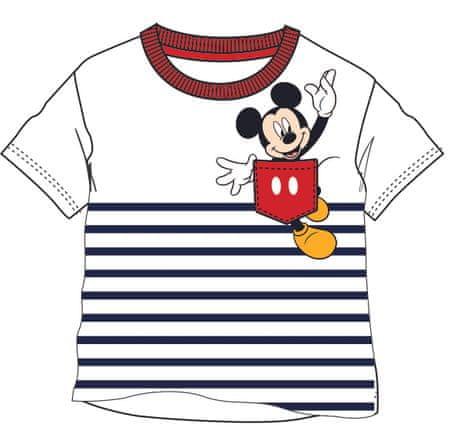 Disney by Arnetta fiú póló Mickey Mouse 80 fehér/kék