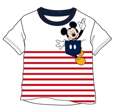 Disney by Arnetta fiú póló Mickey Mouse 122 fehér/piros
