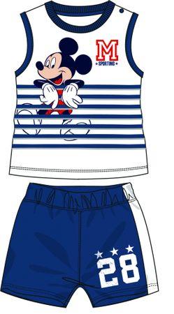 Disney by Arnetta chlapecký letní set Mickey Mouse 86 modrá