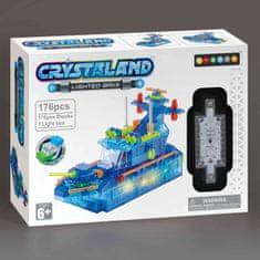CrystaLand Crystal kocke patruljni čoln, 176 kos