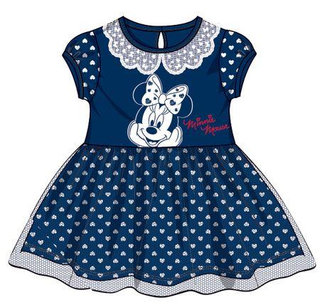 Disney by Arnetta dívčí šaty Minnie 140 modrá