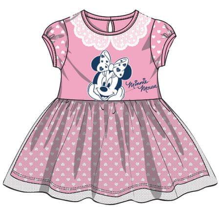 Disney by Arnetta dívčí šaty Minnie 98 ružová