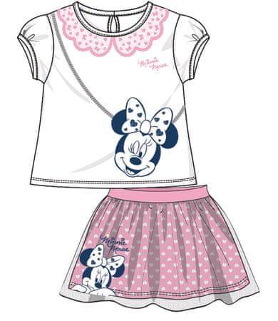 Disney by Arnetta dívčí letní set Minnie 98 ružová