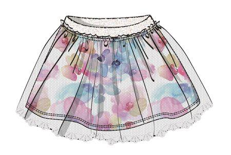 Disney by Arnetta dívčí sukně Frozen 104 viacfarebná