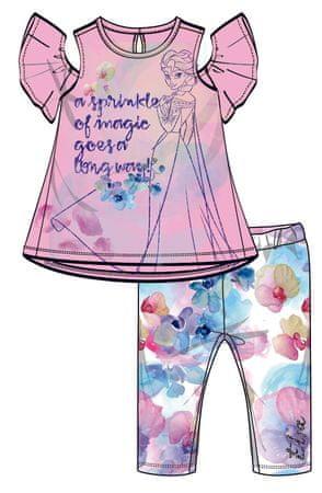 Disney by Arnetta dívčí letní set Frozen 122 ružová