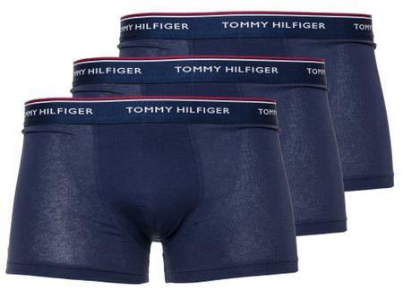 Tommy Hilfiger trojité balenie pánskych boxeriek S tmavomodrá