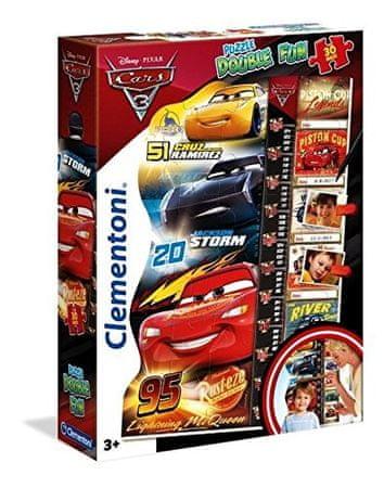 Clementoni sestavljanka Double Fun Cars 3