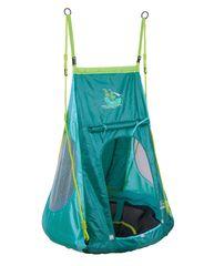 Hudora viseča gugalnica s šotorom pirat, 90 cm, zelena