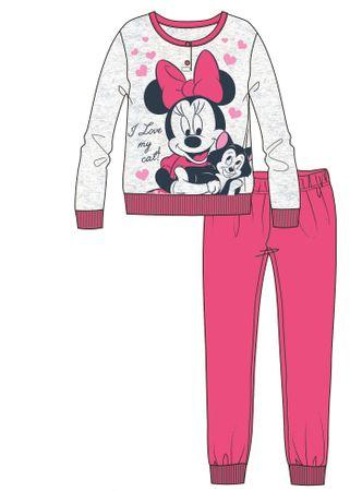 Disney by Arnetta lány pizsama Minnie 128 rózsaszín
