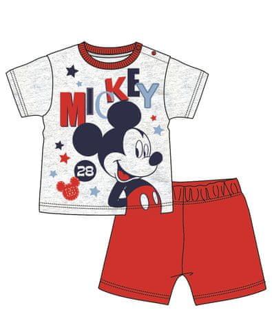 Disney by Arnetta chlapecké pyžamo Mickey Mouse 86 červená