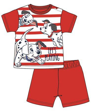 Disney by Arnetta fiú pizsama 101 kiskutya 68 piros