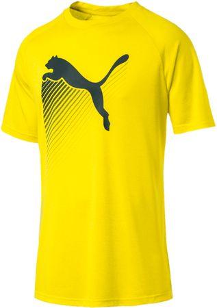 Puma moška majica s kratkim rokavom The Cat Heather Tee Blazing Yellow Heath, XL, rumena