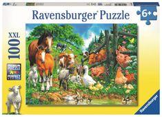 Ravensburger slagalica Druženje životinja, 100 dijelova