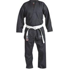 Blitz Dětské Kimono Plain V-Neck - černé
