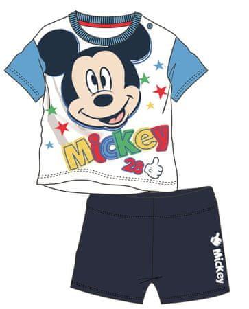 Disney by Arnetta chlapecký letní set Mickey Mouse 80 modrá