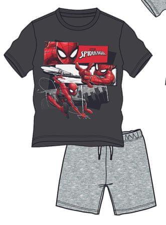 Disney by Arnetta chlapecký letní set Spiderman 104 tmavo sivá