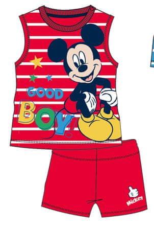Disney by Arnetta chlapecký letní set Mickey Mouse 80 červená