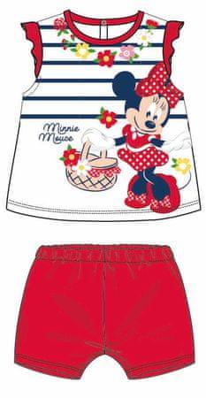 Disney by Arnetta dívčí letní set Minnie 92 červená