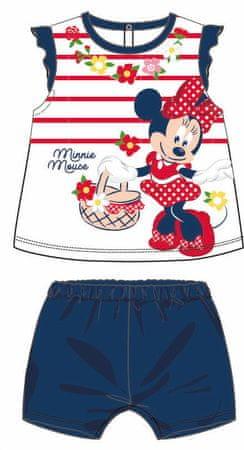 Disney by Arnetta dívčí letní set Minnie 92 modrá