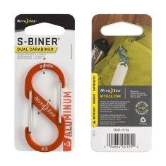 Nite Ize dvojni karabin S-Biner #3, aluminij, oranžen