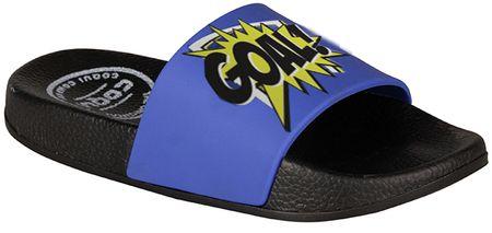 Coqui fiú papucs Football Riki 31.5 kék/fekete