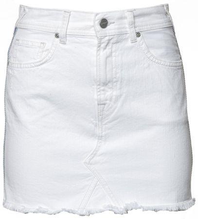 Pepe Jeans dámská sukně Dani Bling XS bílá
