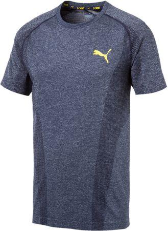 Puma moška majica s kratkimi rokavi Evoknit Basic Tee Peacoat, siva, S