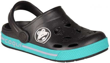 Coqui sandały chłopięce Froggy 26.5 antracytowe