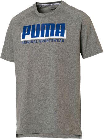 Puma moška majica Athletics Graphic Tee Medium Gray Heathe, siva, M