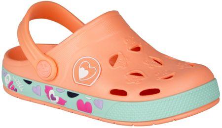 Coqui dívčí sandály Froggy 28.5 oranžová