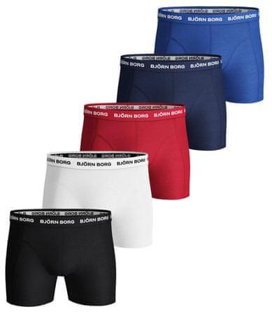 Björn Borg komplet moških boksaric Shorts Noos Solids, 5 kosov, M, večbarvne