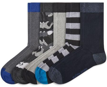 Björn Borg 5 pack pánských ponožek Sock Essential 36 - 40 sivá
